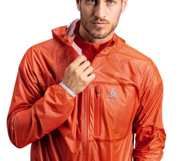 ISPO Award Gold Winner Running ODLO DUAL DRY ZEROWEIGHT WATERPROOF JACKET
